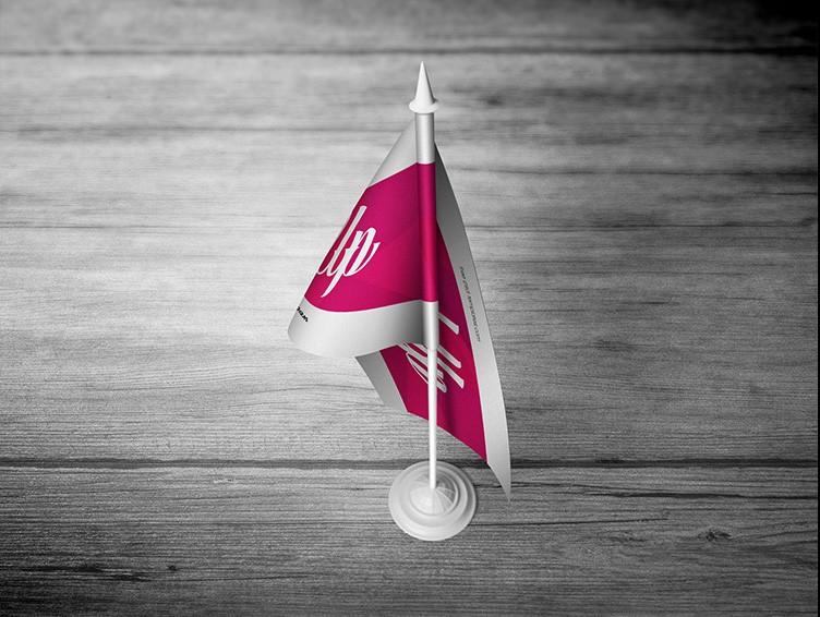3 Free Desk Flag Mock