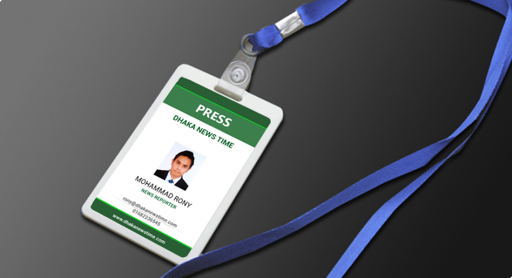 Corporate ID Card Holder Mockup PSD