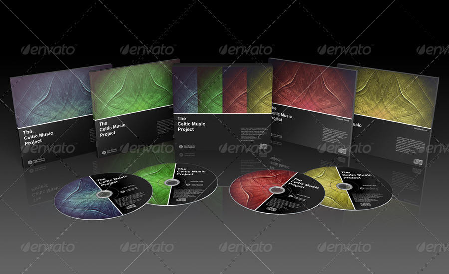 Digipak CD Box Set Mockup