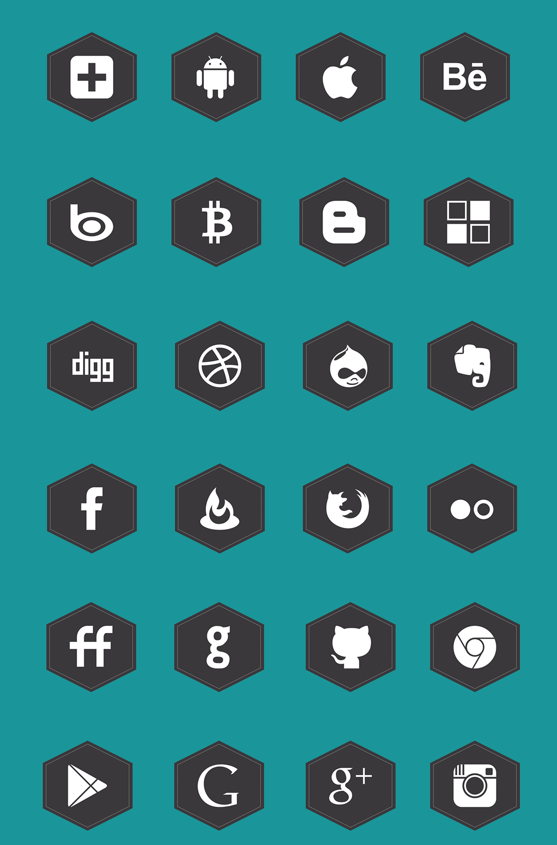 Free Black Social Media Icons Set