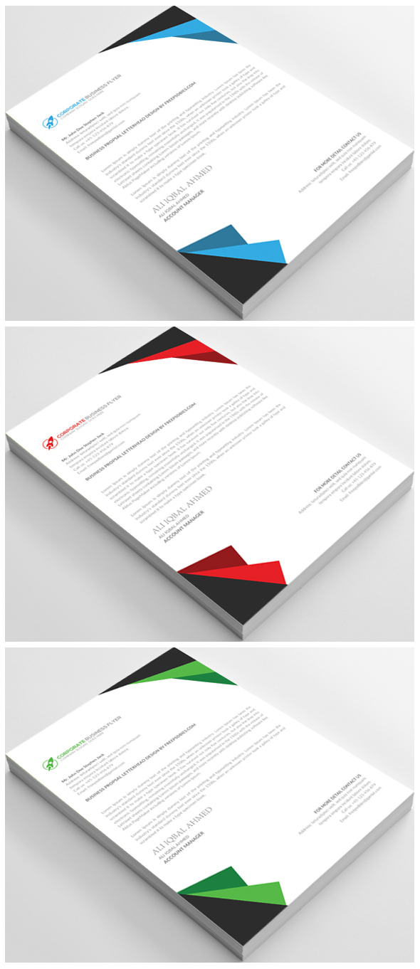 Free Business Letterhead Template PSD