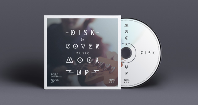 Free CD cover and Disc Mockup