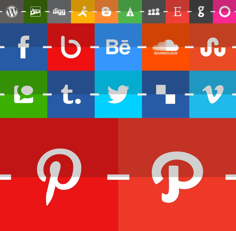 Free Flat and Classy Social Media Icons