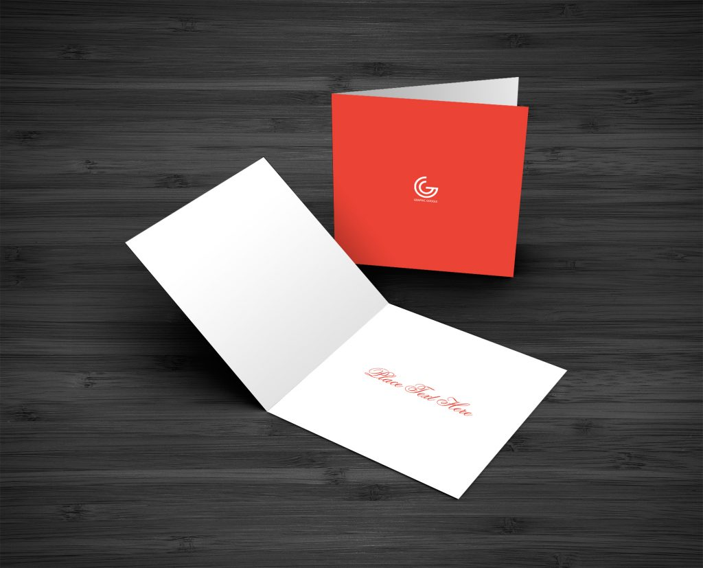 Free Greetings Card Mockup