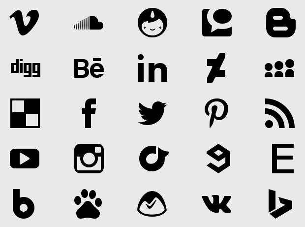 Free Social Media Pixel Perfect Icons