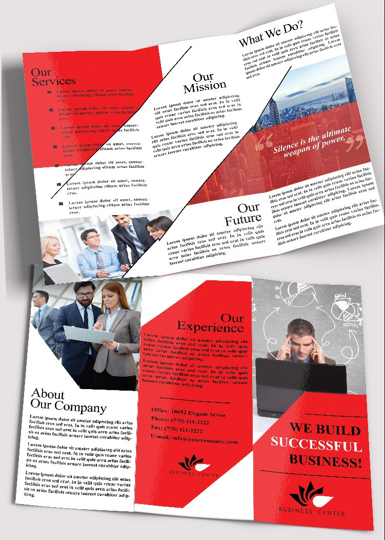 Free Tri-Fold Business Brochure Template