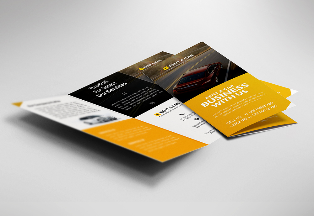 Free Tri-Fold Car Dealer and Services Brochure Template