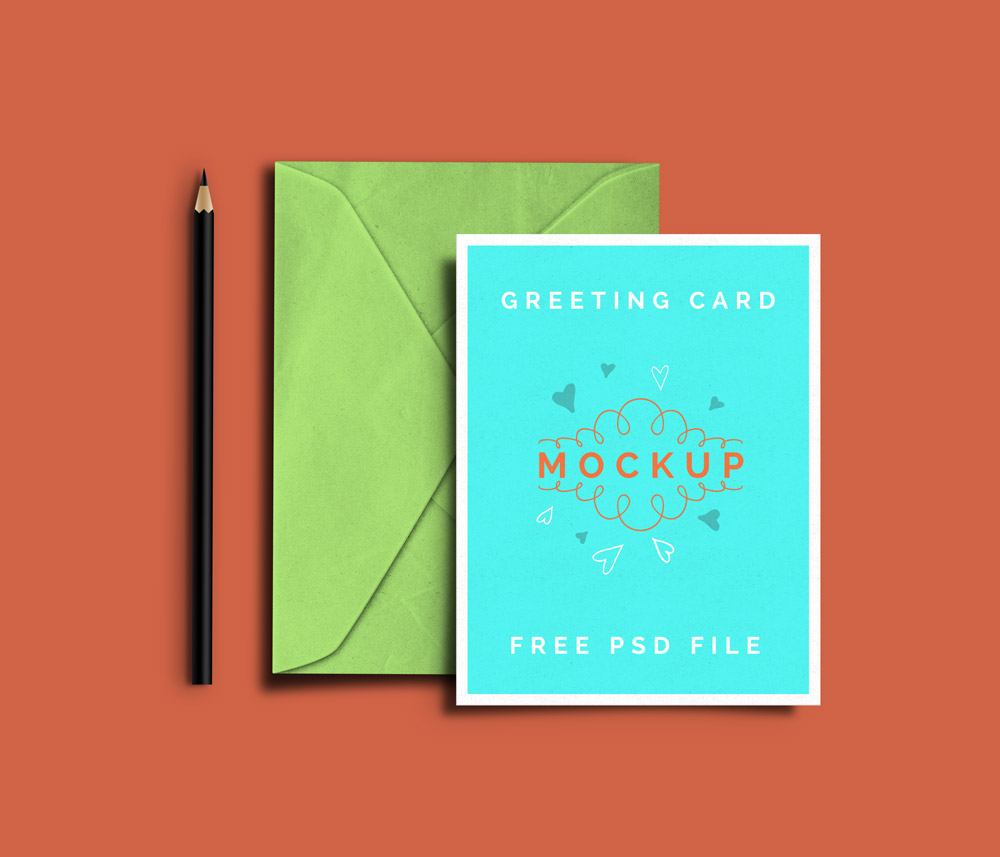 Greeting Card PSD Mockups