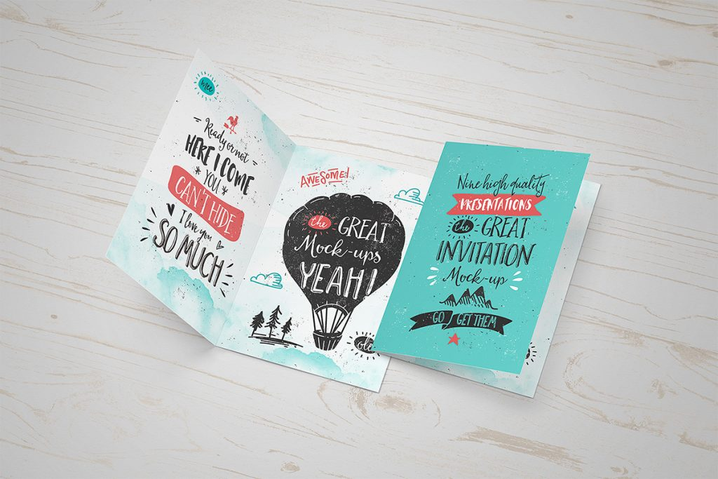 Invitation / Greeting Card Mockup