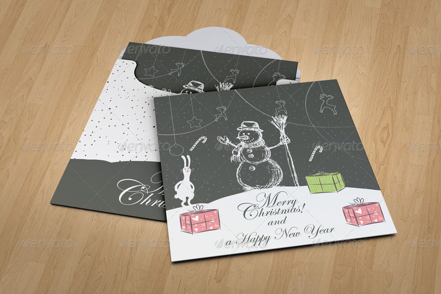 Invitation and Greeting Card Mockup V2