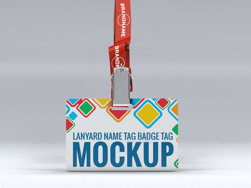Lanyard Name Tag Badge Mockup