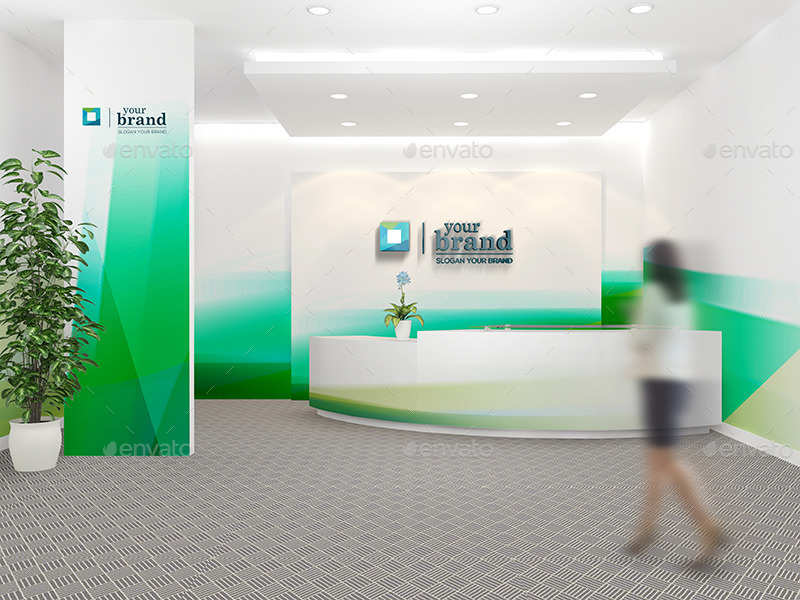 Office Interior Branding Mockups V2