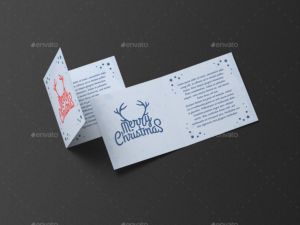 Square Greeting Card and Invitation Mockup