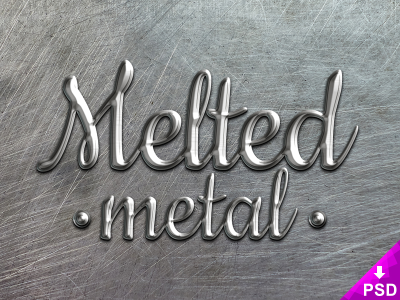 Melted Metal Text Style