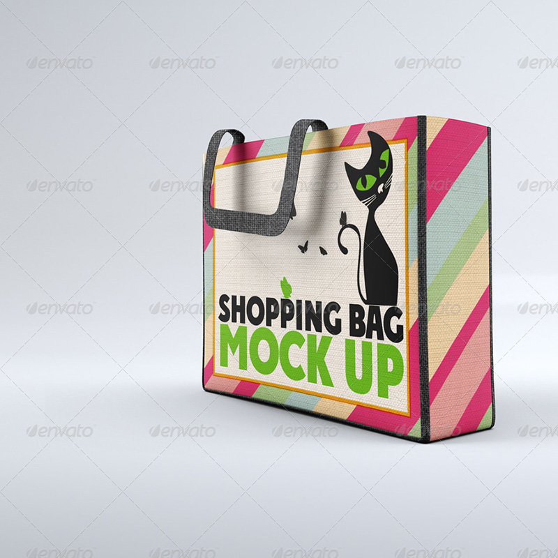 amazing cloth shopping bag psd template