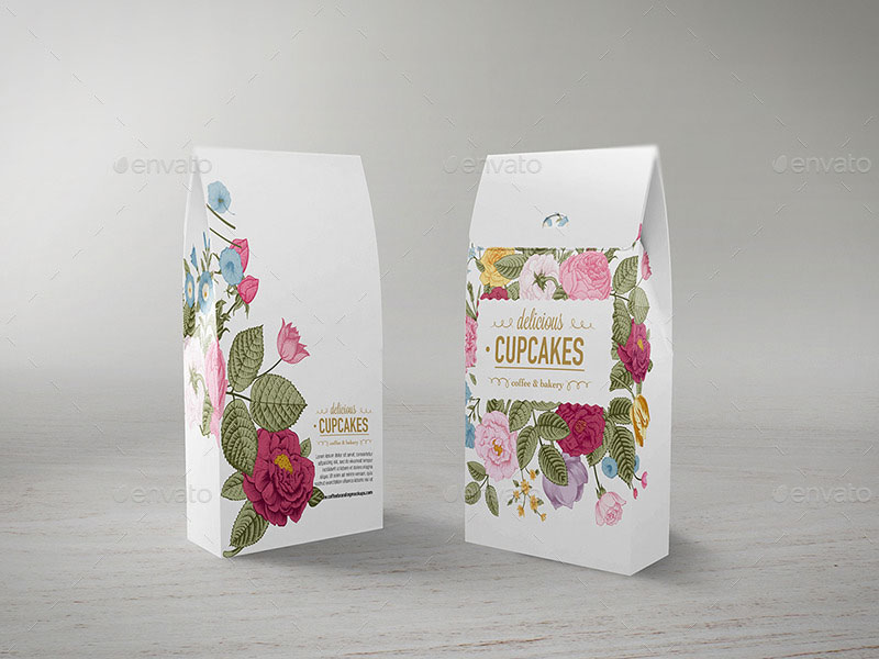 identical coffee bag templates