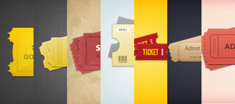 great style event tickets mockup free psd template design