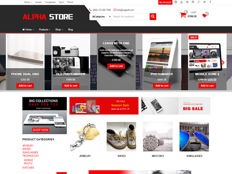 nice free ecommerce wordpress theme