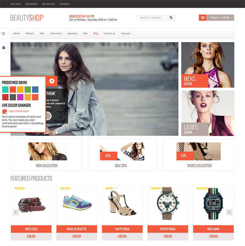 cool and awesome premium wordpress eCommerce theme