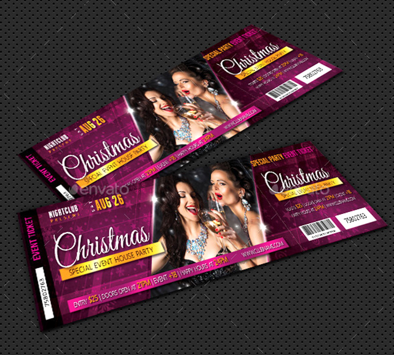 awesome party event ticket psd template design