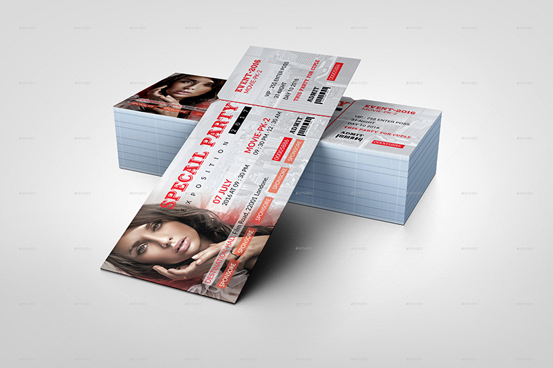 18+ Event Ticket Templates psd