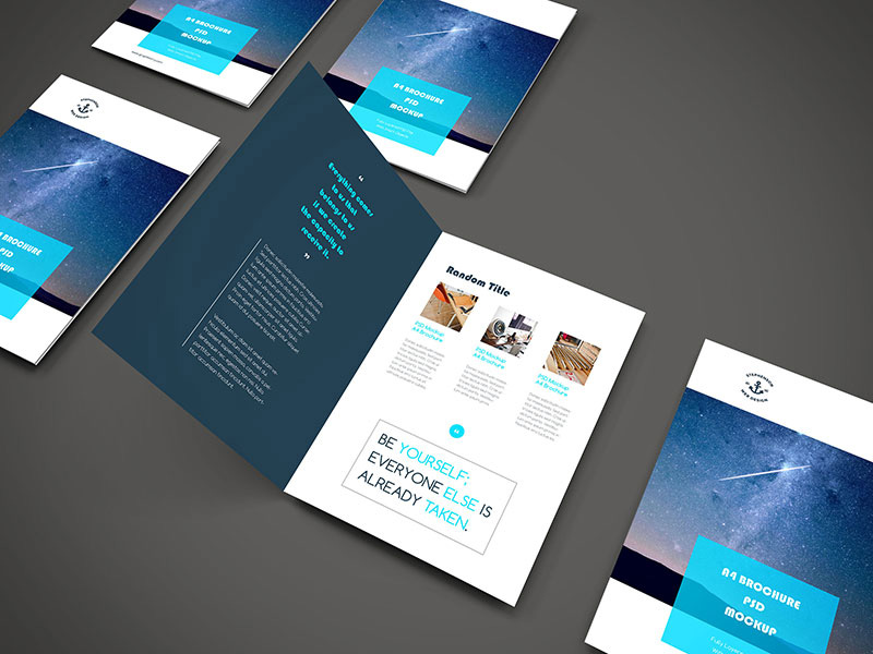 awesome corporate brochure free psd template