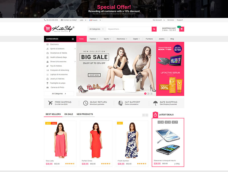 beautiful multipurpose premium wordpress eCommerce theme