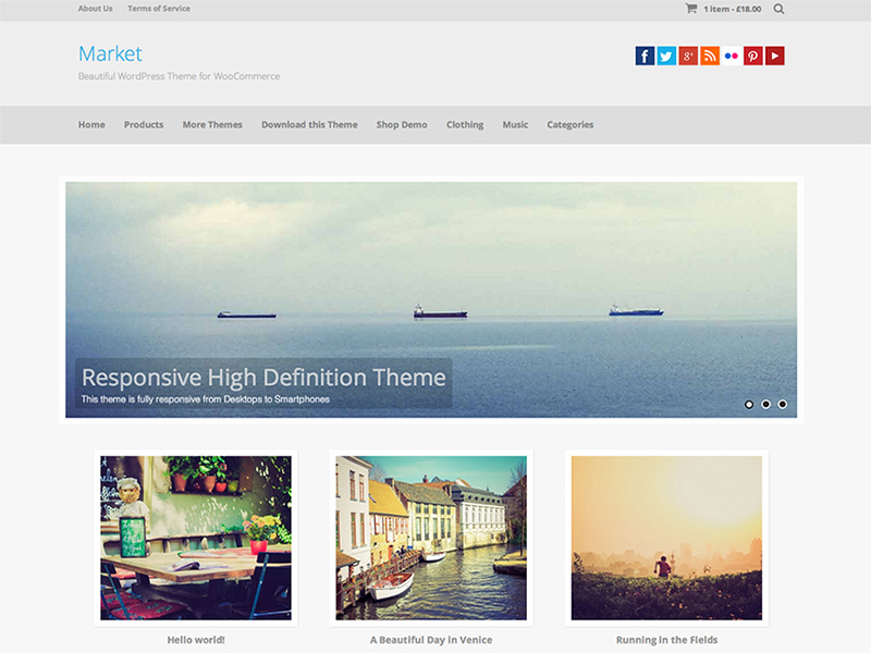 awesome free eCommerce wordpress theme