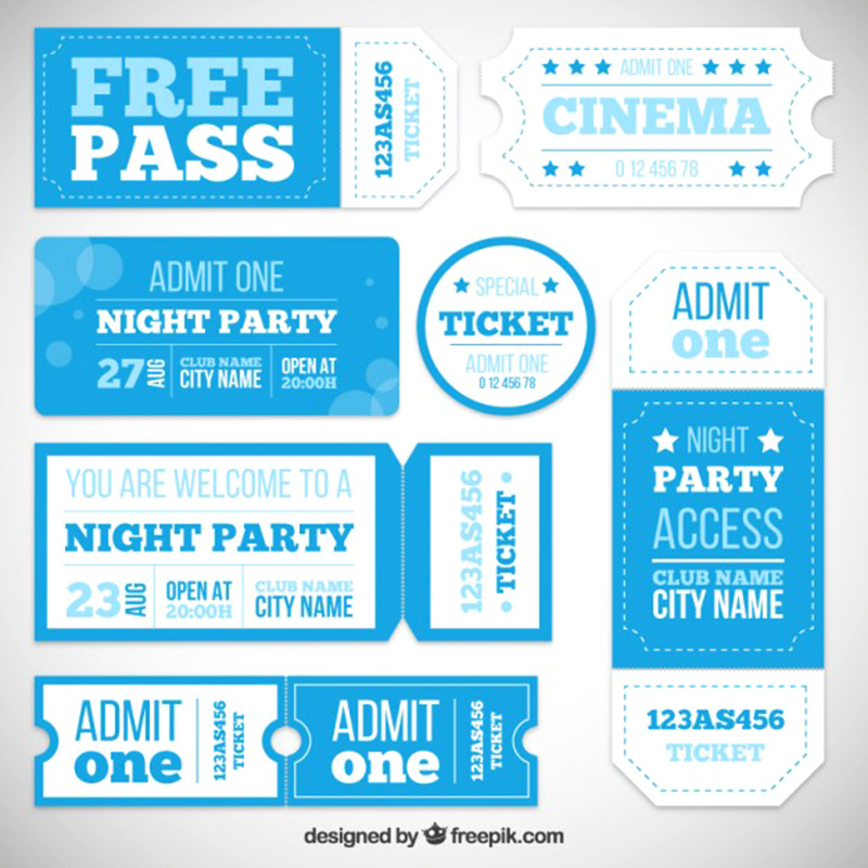 awesome party tickets free mockup psd template