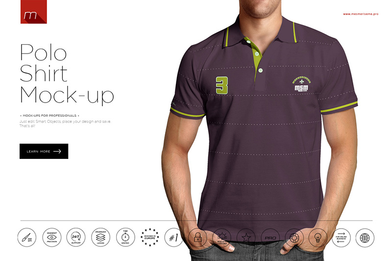 nice and unique polo shirt design psd template