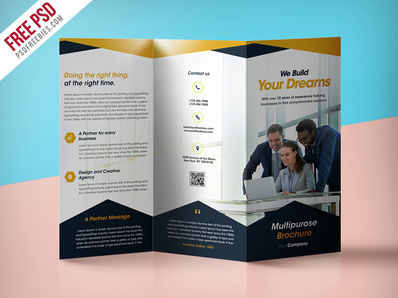 25 best free corporate brochure template design psd psdtemplatesblog