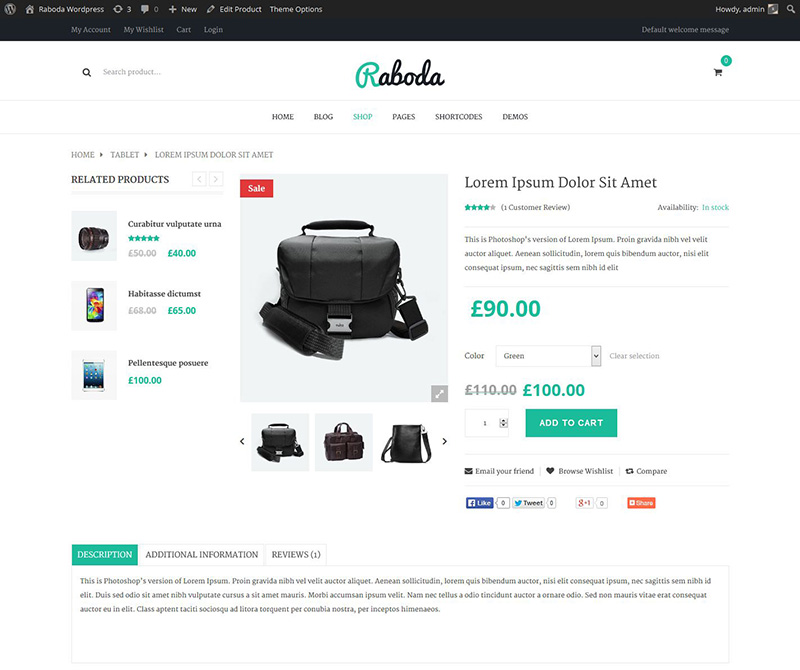 excellent premium wordpress eCommerce or woocommerce theme