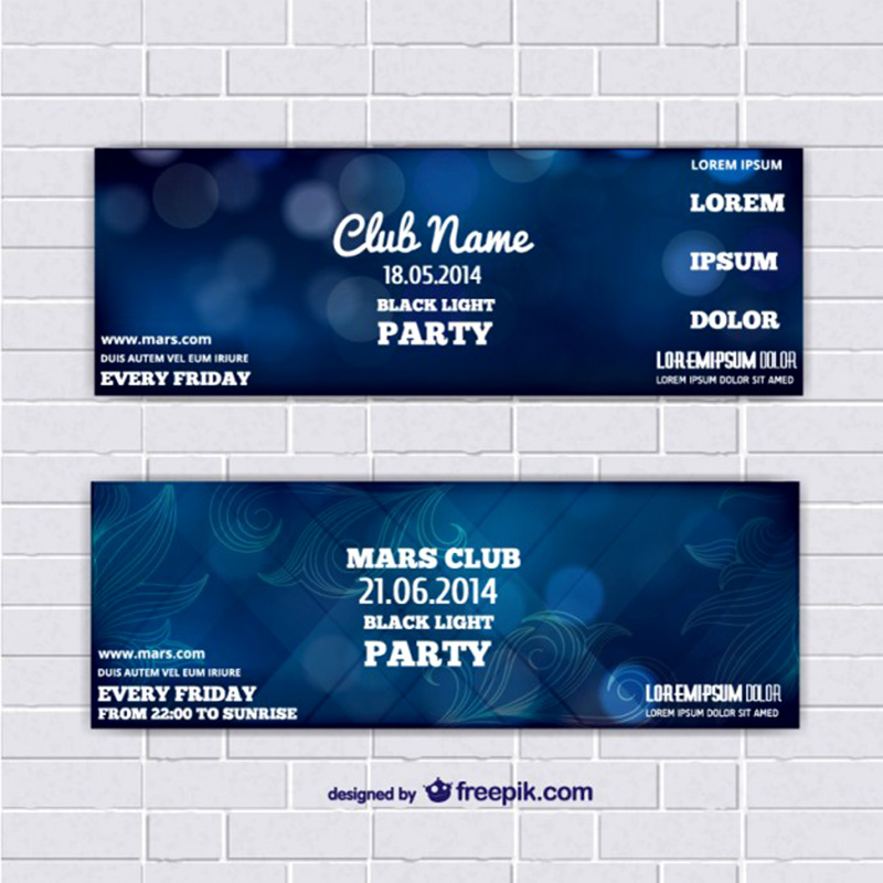 unique event ticket free psd template