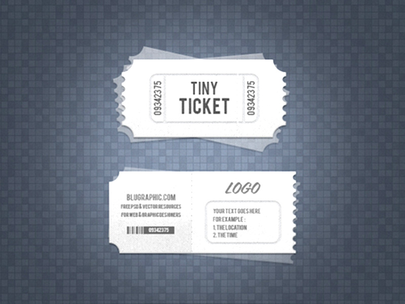 unique free tickets mockup psd template