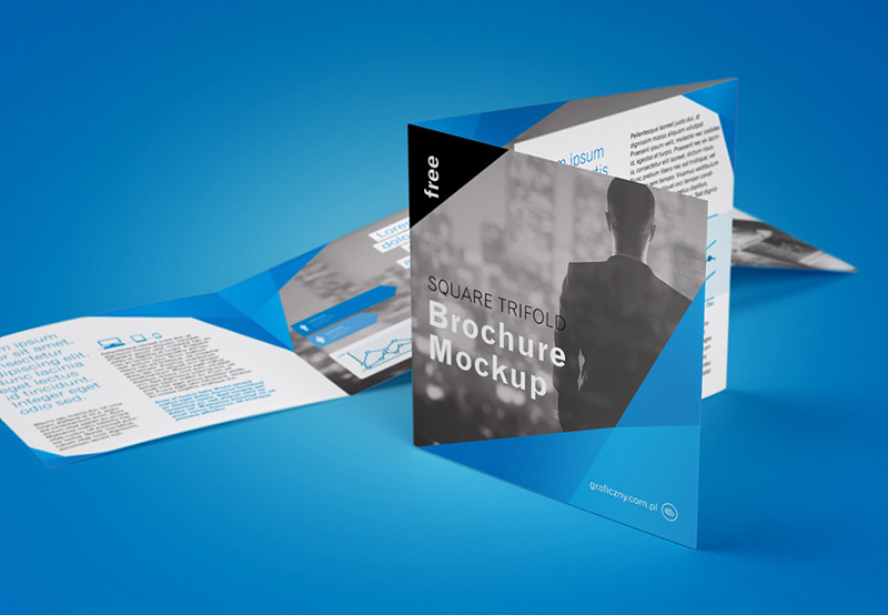 best unique and free square business brochure design template psd