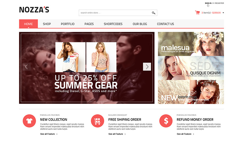 fashionable premium wordpress eCommerce theme for online shop