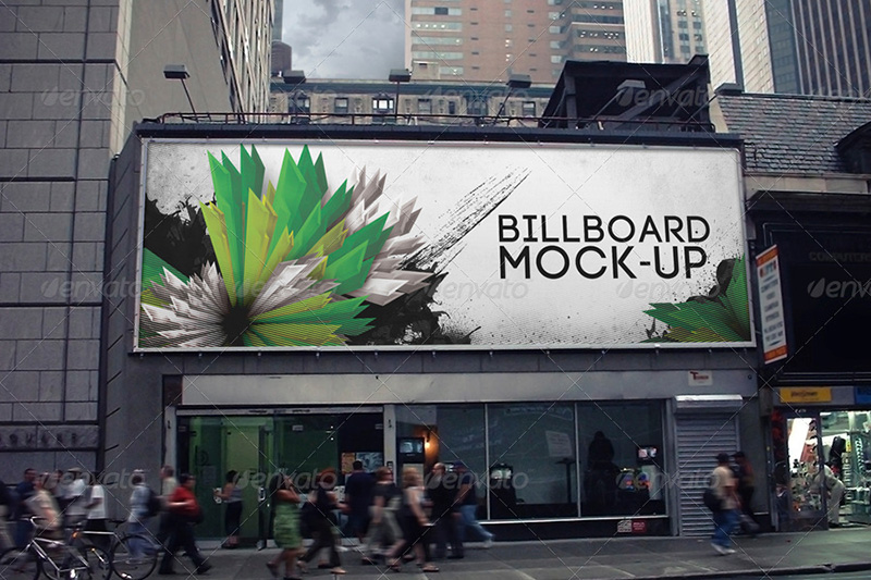 nice premium outdoor advertising billboard psd mockups