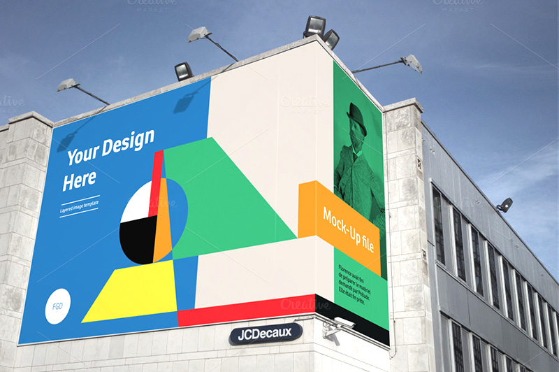 finest premium outdoor advertising building billboard mockup psd for sale