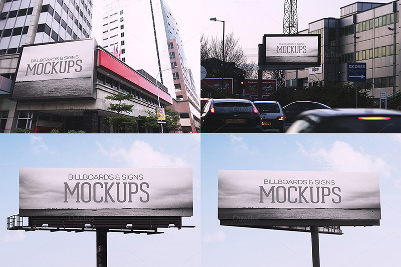 fantastic premium outdoor advertising billboard mockups psd