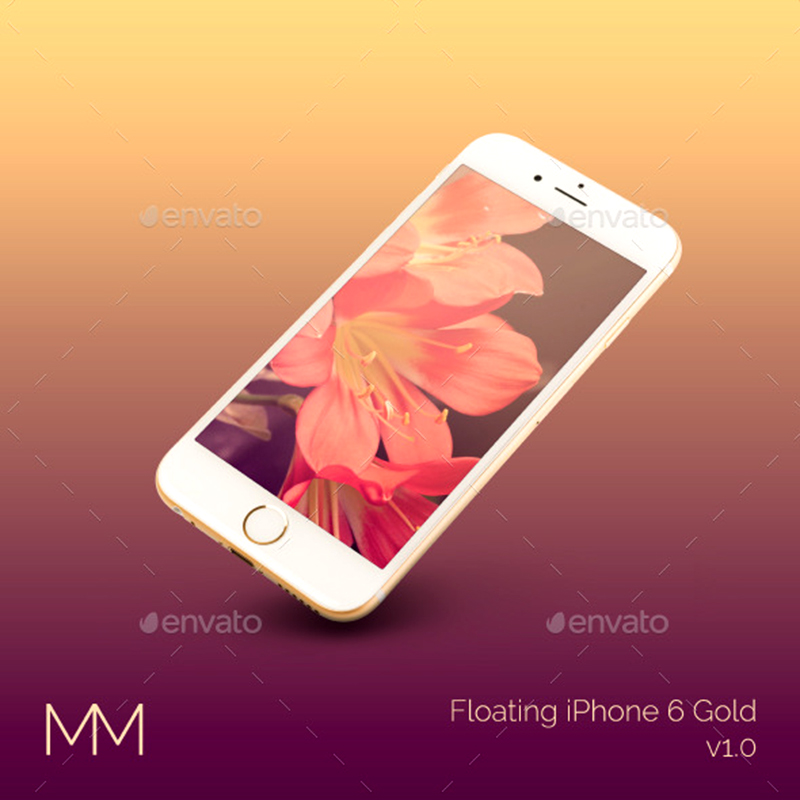 great premium gold iphone 6 mockups psd