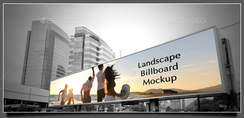 unique premium outdoor advertising billboard mockups psd