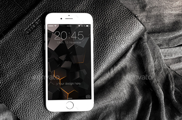 photorealistic awesome premium iphone 6 mockup psd