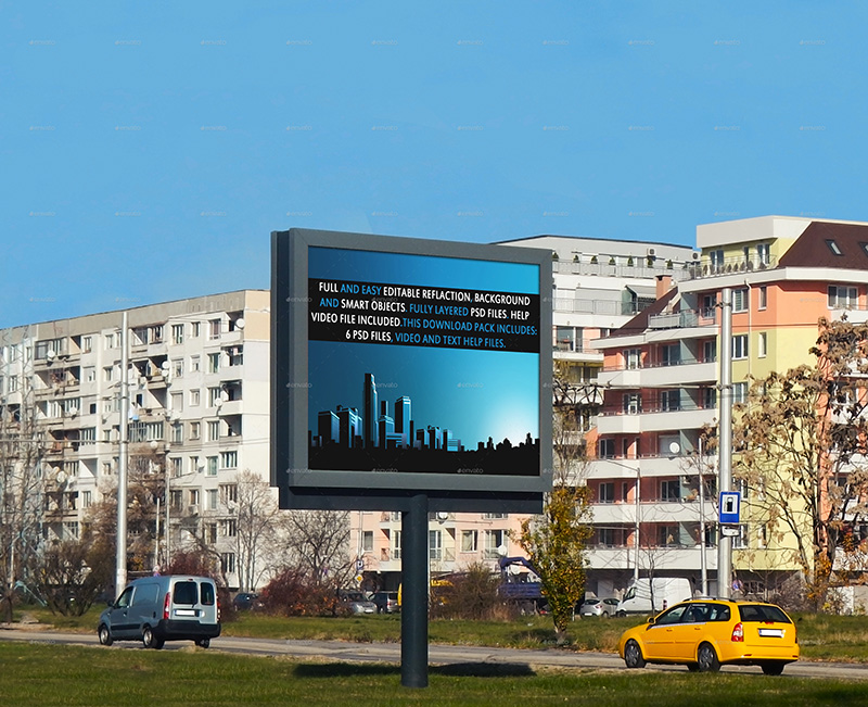 awesome premium outdoor advertising billboard mockups psd