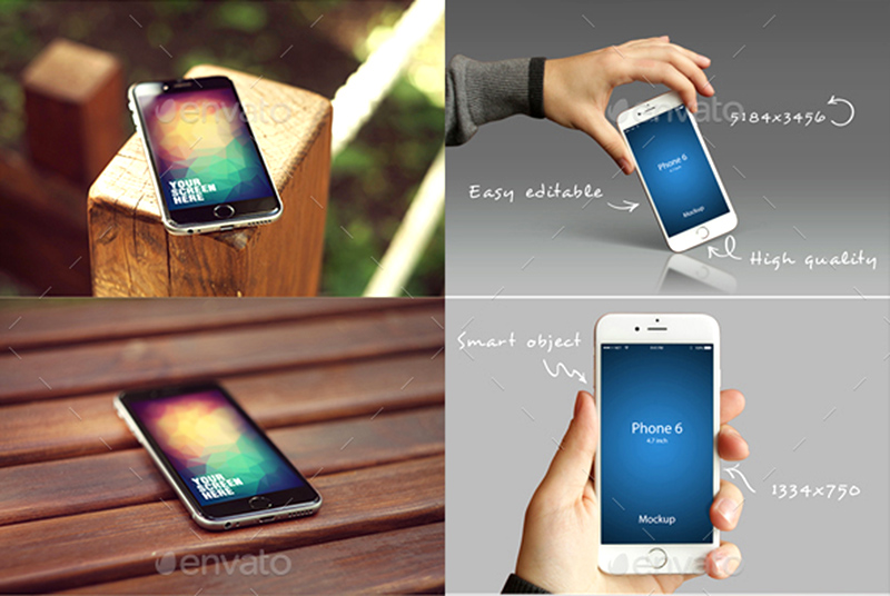 best premium iphone 6 mockup psd bundle