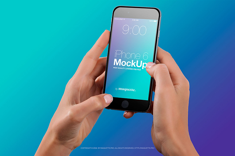 unique iiphone 6 mockup psd for free
