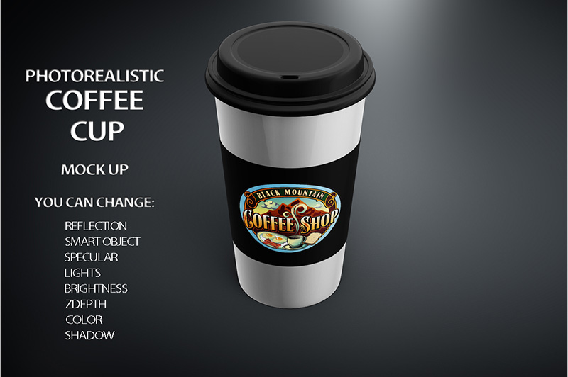latest premium coffee cup mockup template