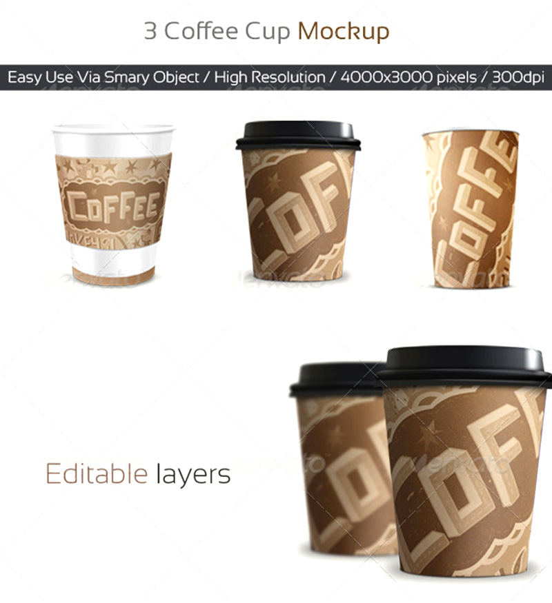 best premium coffee cup mockup template
