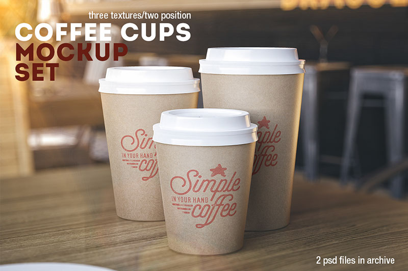 cool premium coffee cup mockup template