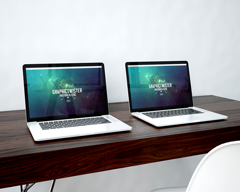 awesome MacBook Pro Mockup template in PSD