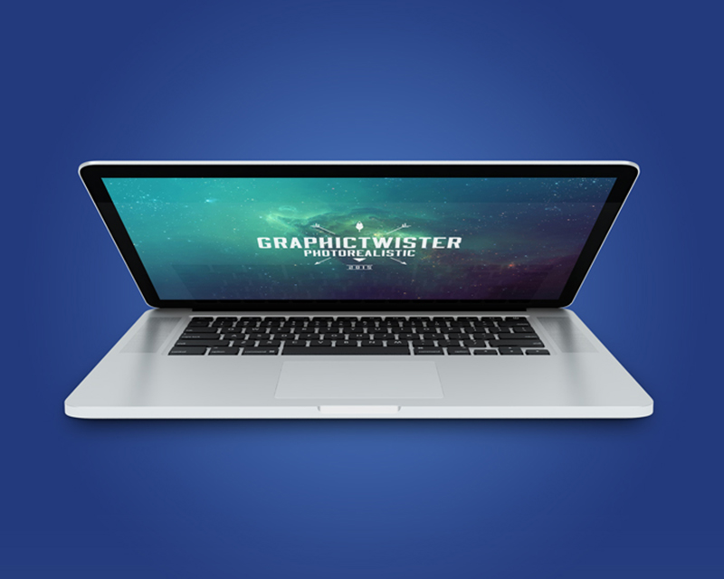 modern MacBook Pro Mockup template in PSD